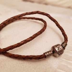 Pandora Jewelry - Pandora double loop leather bracelet